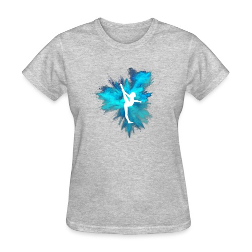 Gymnast Silhouette Blue Explosion - Women's T-Shirt