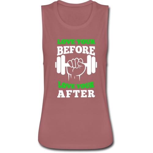 Love Your Workout Flowy Tank - Women's Flowy Muscle Tank by Bella