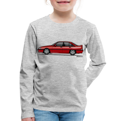 Blitz Omega A, Carlton 3000 GSi 24V Red - Kids' Premium Long Sleeve T-Shirt