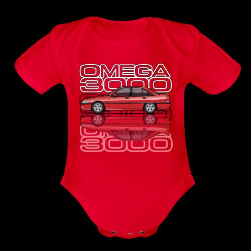 Blitz Omega A, Carlton 3000 GSi 24V Red - Organic Short Sleeve Baby Bodysuit