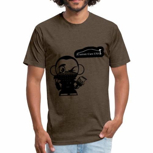 Paint CCU logo Men - Fitted Cotton/Poly T-Shirt by Next Level