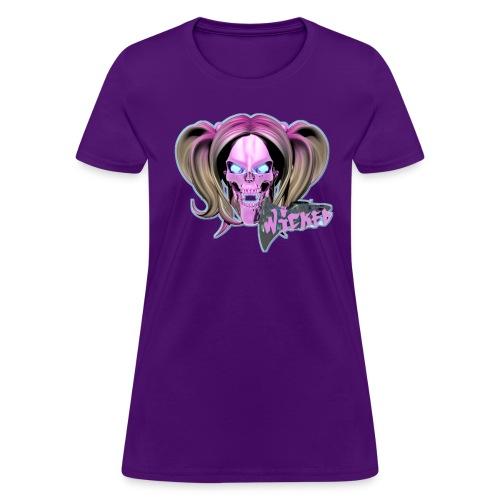 Blox3dnyc.com Juggalette design.  Pink/Light cyan - Women's T-Shirt
