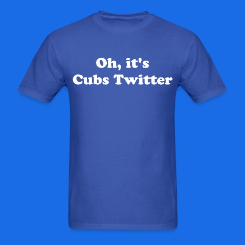 Cubs Twitter - Men's T-Shirt