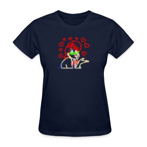 Neon Janine - Hearts - Women's T-Shirt