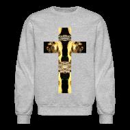 Long Sleeve Shirts ~ Crewneck Sweatshirt ~ TIGER CRUCIFIX - Crewneck