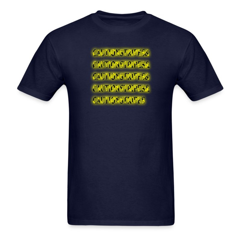 Caution Stripes - Men's T-Shirt