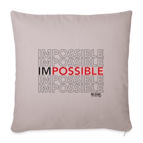 """ImPossible Pillow - Throw Pillow Cover 18"""" x 18"""""""