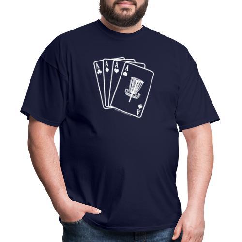 Disc Golf White Aces on Front - Men's Shirt - Men's T-Shirt