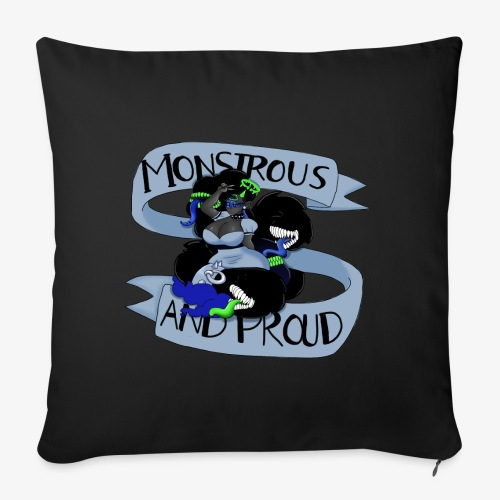 """Ailith Monstrous Throw Pillow - Throw Pillow Cover 18"""" x 18"""""""