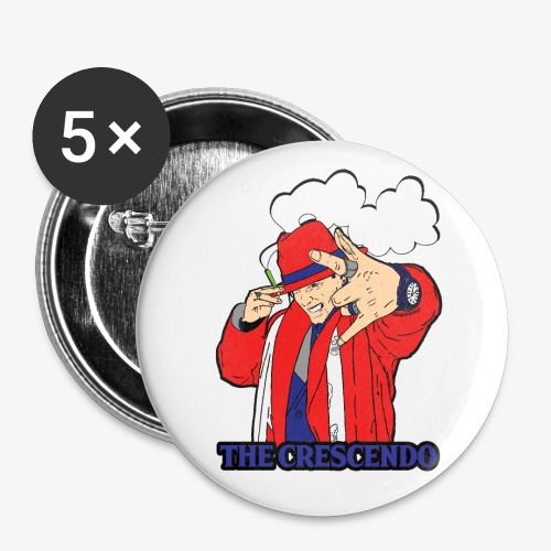 The Crescendo LP 5 Pack of Buttons - Buttons large 2.2'' (5-pack)