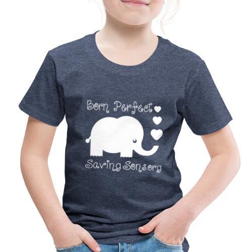 Born Perfect Elephant Love - Toddler Premium T-Shirt