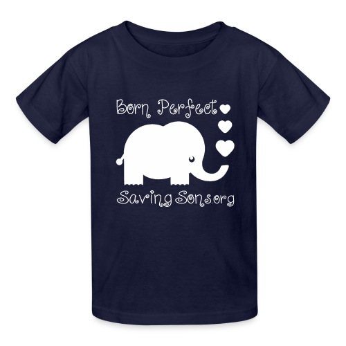 Born Perfect Elephant Love - Kids' T-Shirt