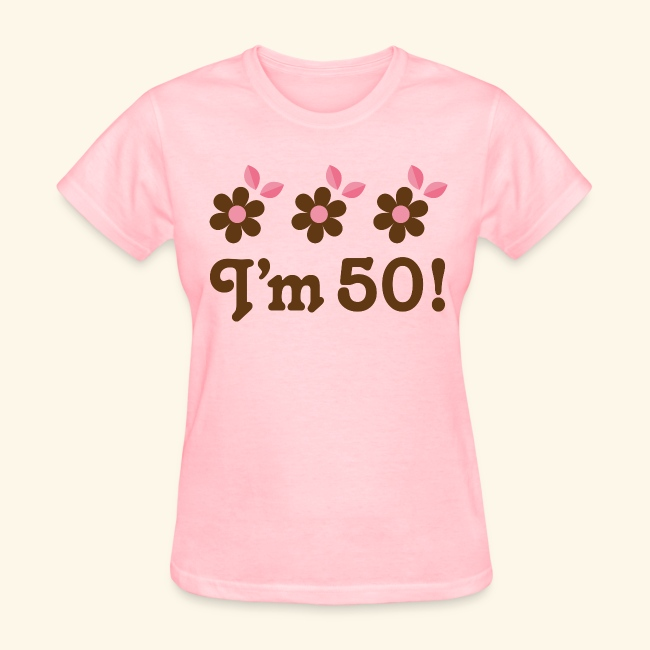 50th Birthday Daisy Flower T Shirt