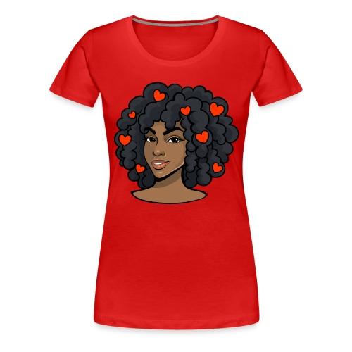 Love black women - Women's Premium T-Shirt
