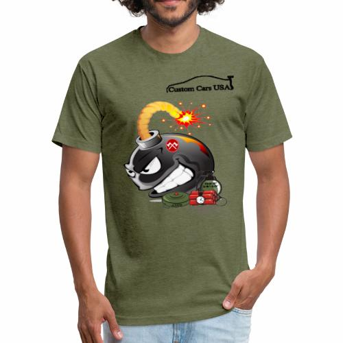 CCU Bomb - Fitted Cotton/Poly T-Shirt by Next Level