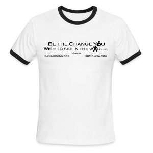 Be The Change w/ Sites - Men's Ringer T-Shirt