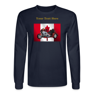 Men'sLSHanes_Front_CaFlagWingtrike - Men's Long Sleeve T-Shirt