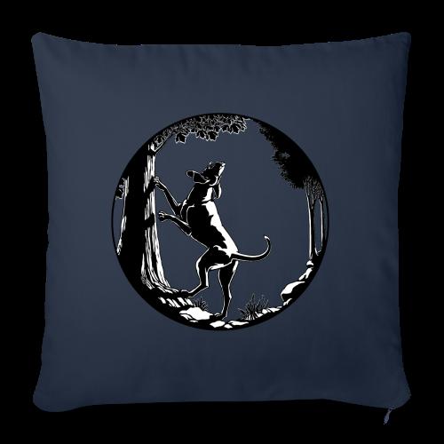 "Hunting Dog Pillows Hound Dog Art Throw Pillows - Throw Pillow Cover 18"" x 18"""