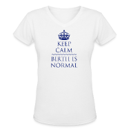 Women's T-Shirts ~ Women's V-Neck T-Shirt ~ Keep Calm Birth is Normal