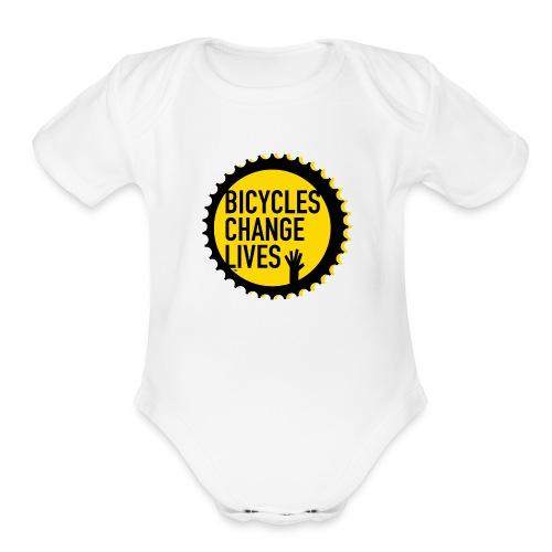 BCL Yellow Cog Babies - Organic Short Sleeve Baby Bodysuit
