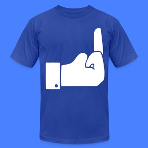 Like Middle Finger T-Shirts - Men's T-Shirt by American Apparel