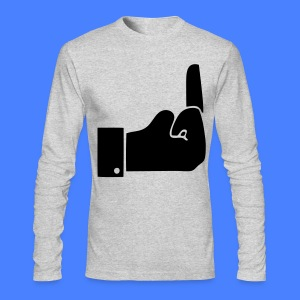 Like Middle Finger Long Sleeve Shirts - Men's Long Sleeve T-Shirt by Next Level
