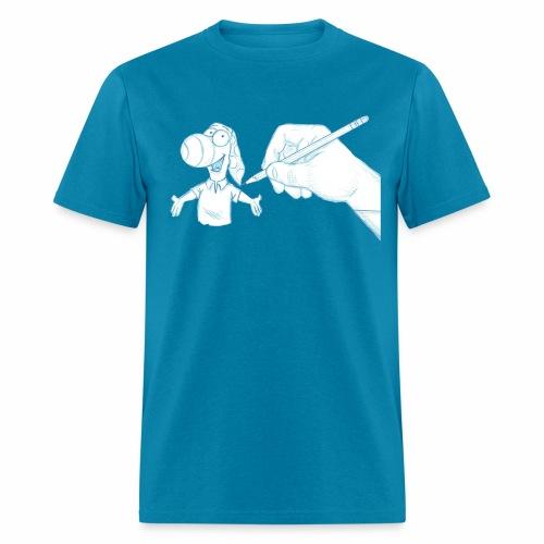 Sketch Dog - Men's T-Shirt