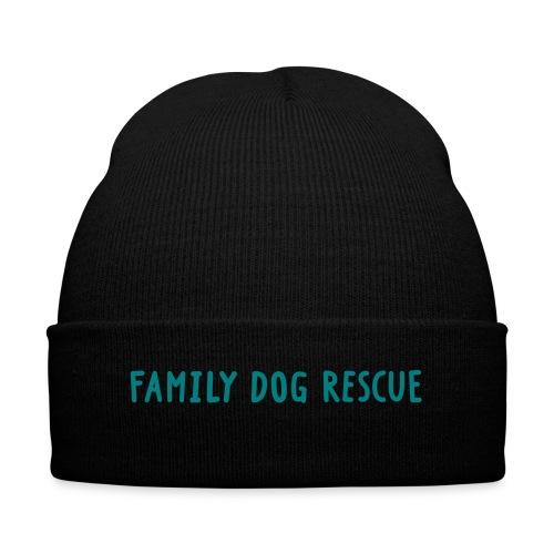 Family Dog Rescu Cap - Knit Cap with Cuff Print