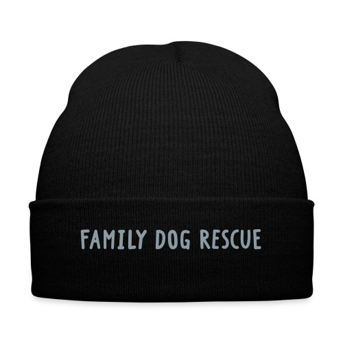 Family Dog Rescue Cap - Knit Cap with Cuff Print