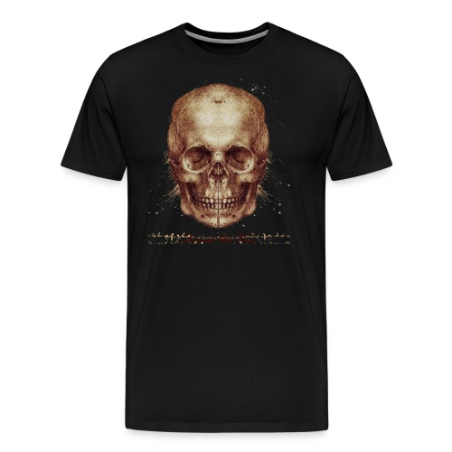 Leonardo's Skull - Men's Premium T-Shirt
