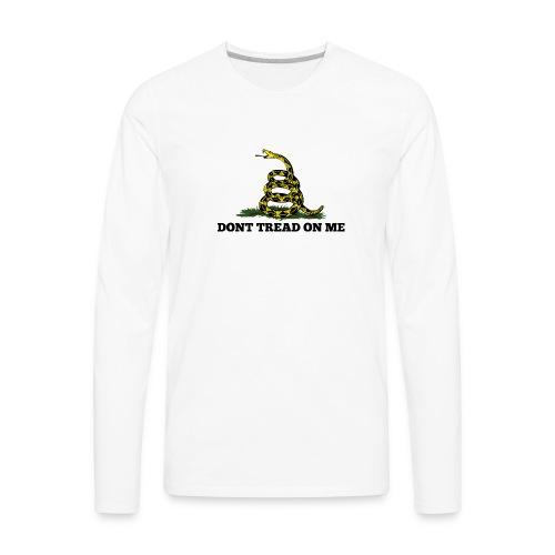 GADSDEN FLAG - DONT TREAD ON ME - Men's Premium Long Sleeve T-Shirt