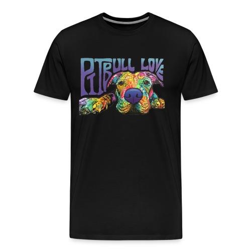 Pitbull Love - Men's Shirt - Men's Premium T-Shirt