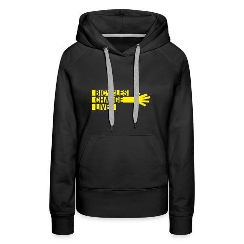 BCL Yellow Hand Hoodie Ladies - Women's Premium Hoodie