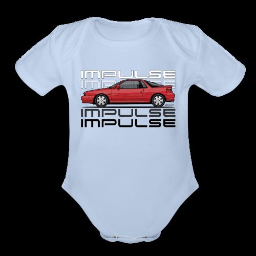 Usuzi Impulse RS Red - Organic Short Sleeve Baby Bodysuit