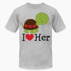 I Heart Her (Turtle) Mens T Shirt | Matching Datin