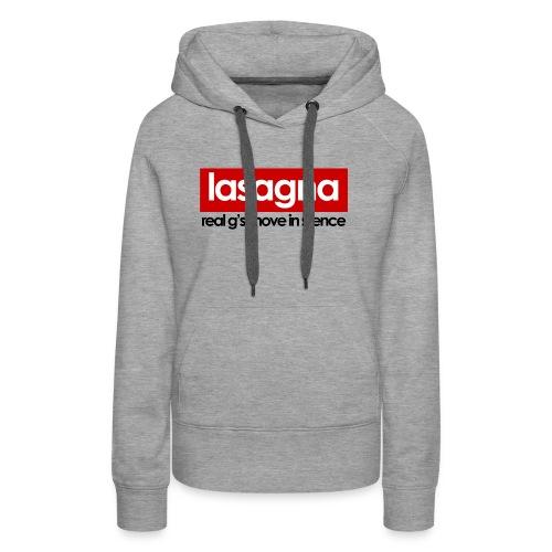 lasagna gray hoodie (women) - Women's Premium Hoodie