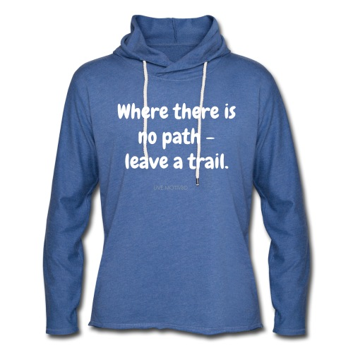 Leave a Trail - Unisex Lightweight Terry Hoodie