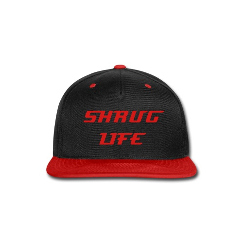 Shrug Life Black and Red Snapback  - Snap-back Baseball Cap