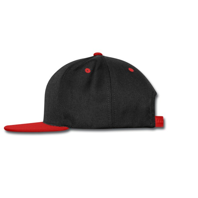 Shrug Life Black and Red Snapback