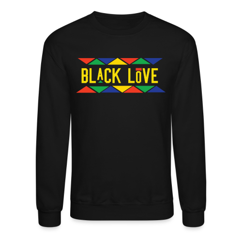 Men's BHM Black Love Black FLS Crewneck - Crewneck Sweatshirt