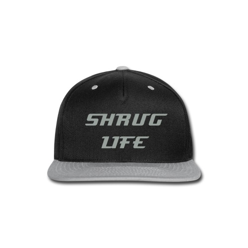 Shrug Life grey and Black Snap Back  - Snap-back Baseball Cap