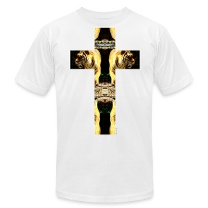TIGER CRUCIFIX - T-Shirt - Men's T-Shirt by American Apparel