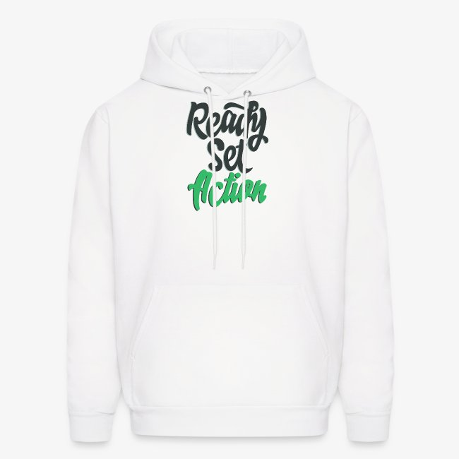 Ready Set Action Mens Hoodie