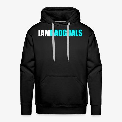 I Am Dad Goals Men's Hoodie (Blue Design) - Men's Premium Hoodie