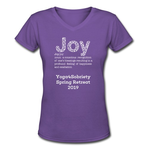 The Joy of Living Retreat 2019 - Women's V-Neck T-Shirt