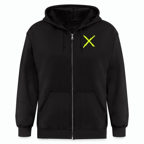 #XQZT By Any Means... Zip Hoodie (NEON) - Men's Zip Hoodie