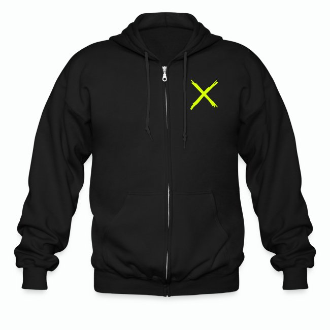 "#XQZT ""By Any Means..."" Zip Hoodie (NEON)"