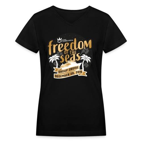 Women's Freedom of the Seas Group Cruise Shirt - Women's V-Neck T-Shirt