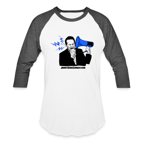 Blue Megaphone Men's Baseball Tee - Baseball T-Shirt