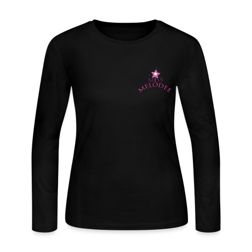 Ladies MIss Melodee Color Logo Long Sleeve Shirt - Women's Long Sleeve Jersey T-Shirt